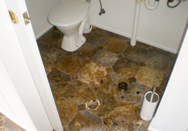 Sewage damage renovation